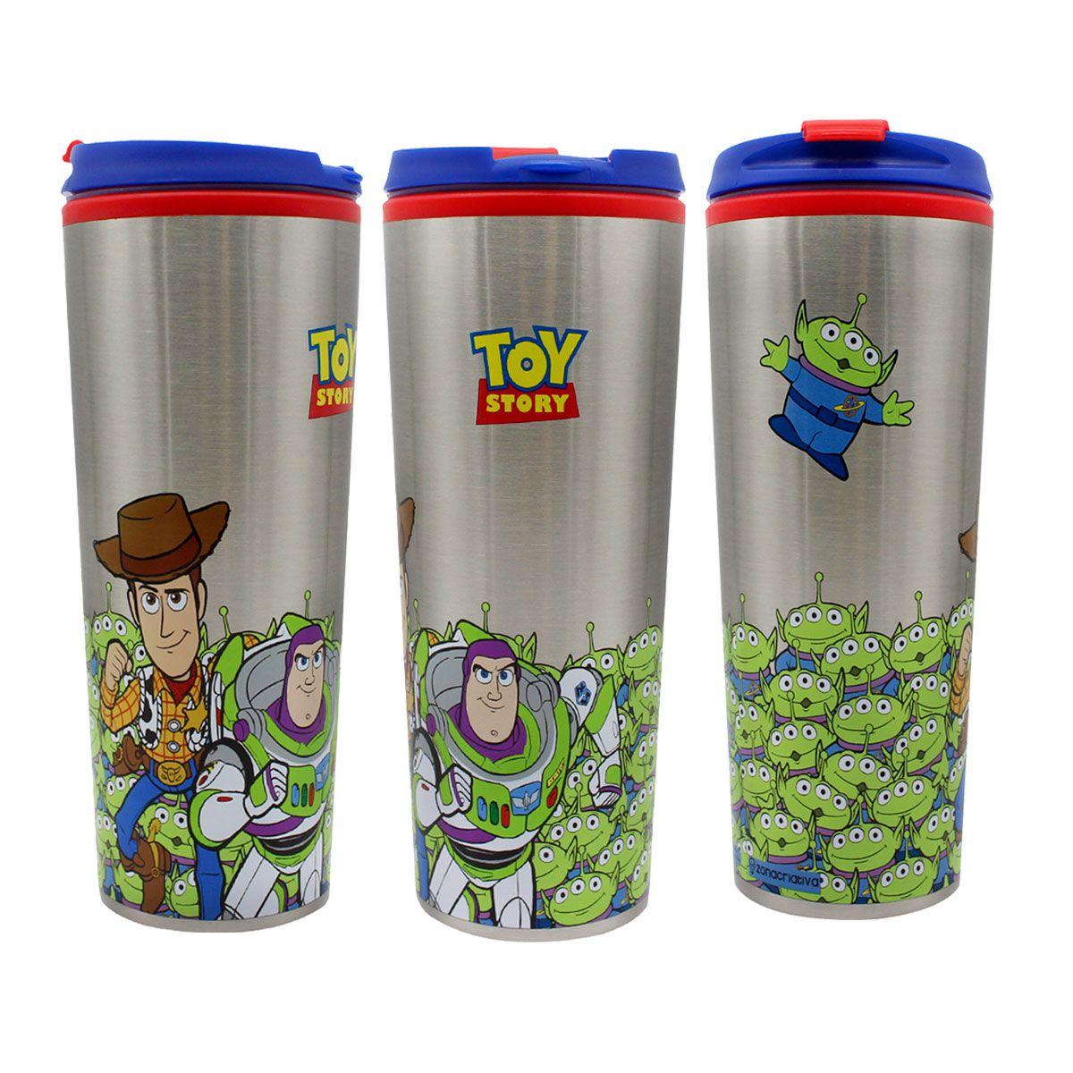 Copo Viagem 450 ml Toy Story - Woody e Buzz Lightyear