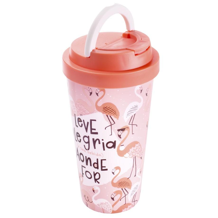 Copo Viagem 470 ml - Flamingo