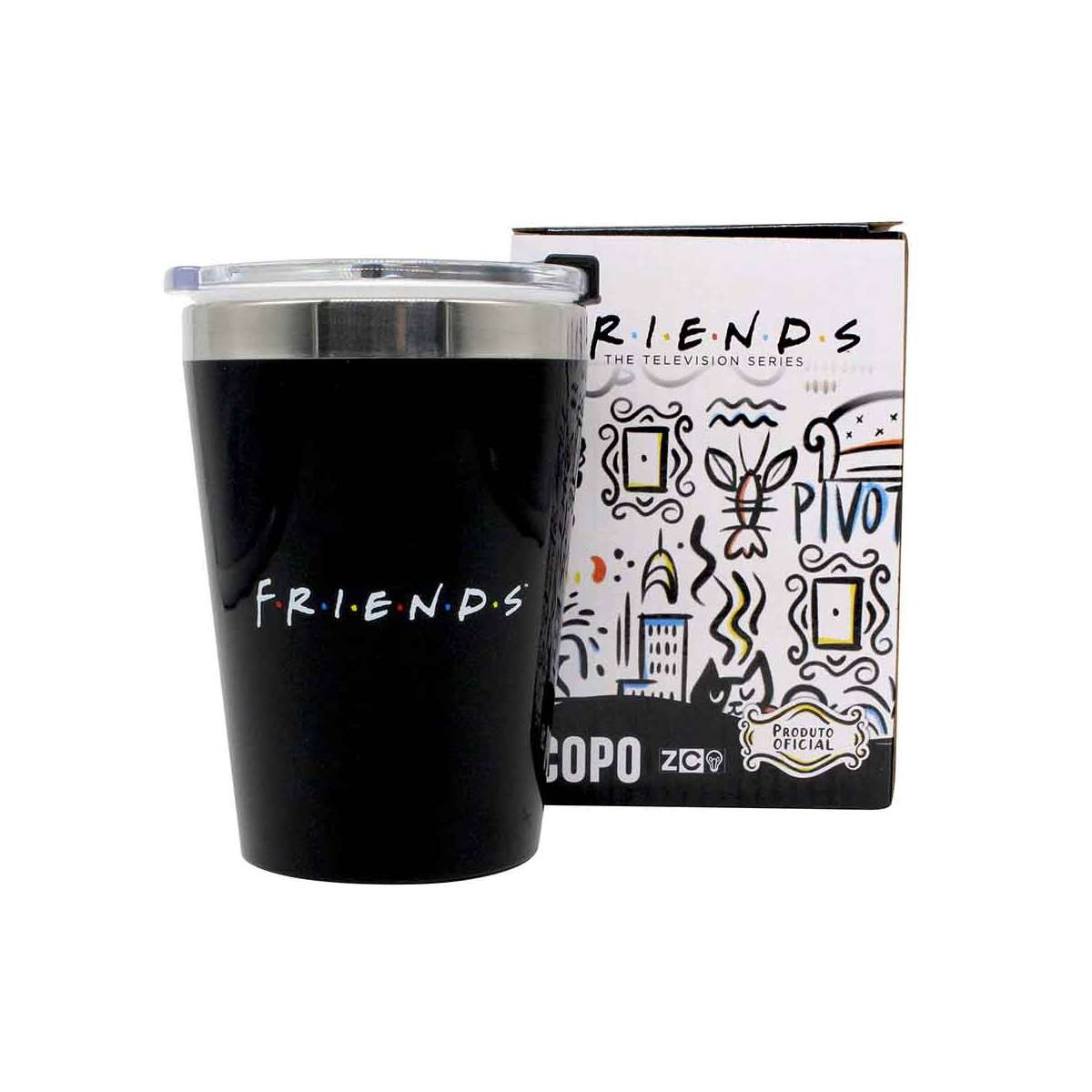 Copo Viagem Friends Logo Serie