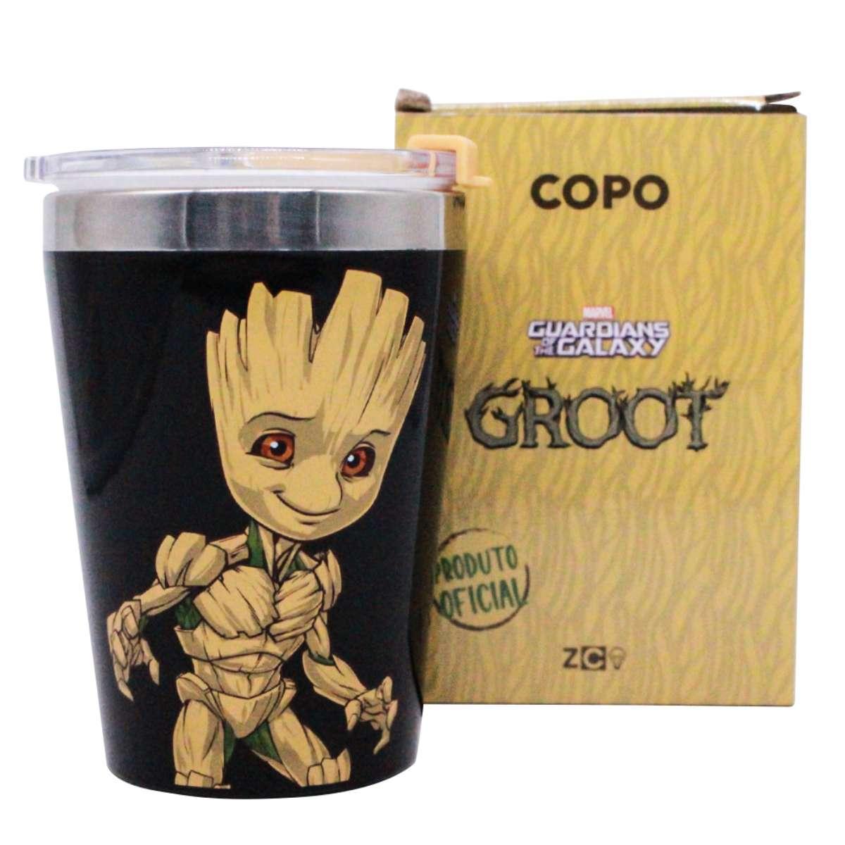 Copo Viagem Groot Guardiões das Galaxias Marvel