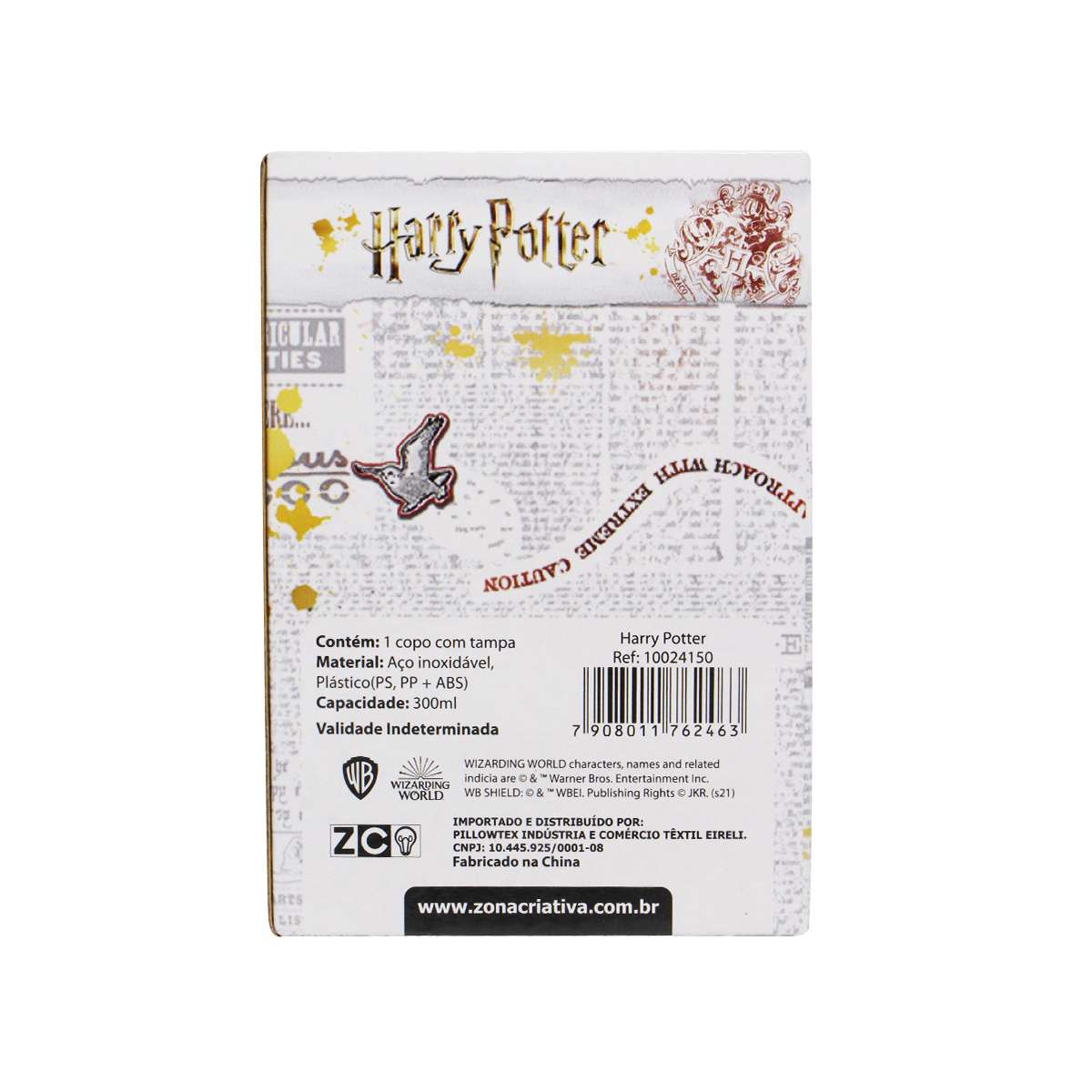 Copo Viagem Harry Potter Estação Plataforma 9 3/4 Hogwarts