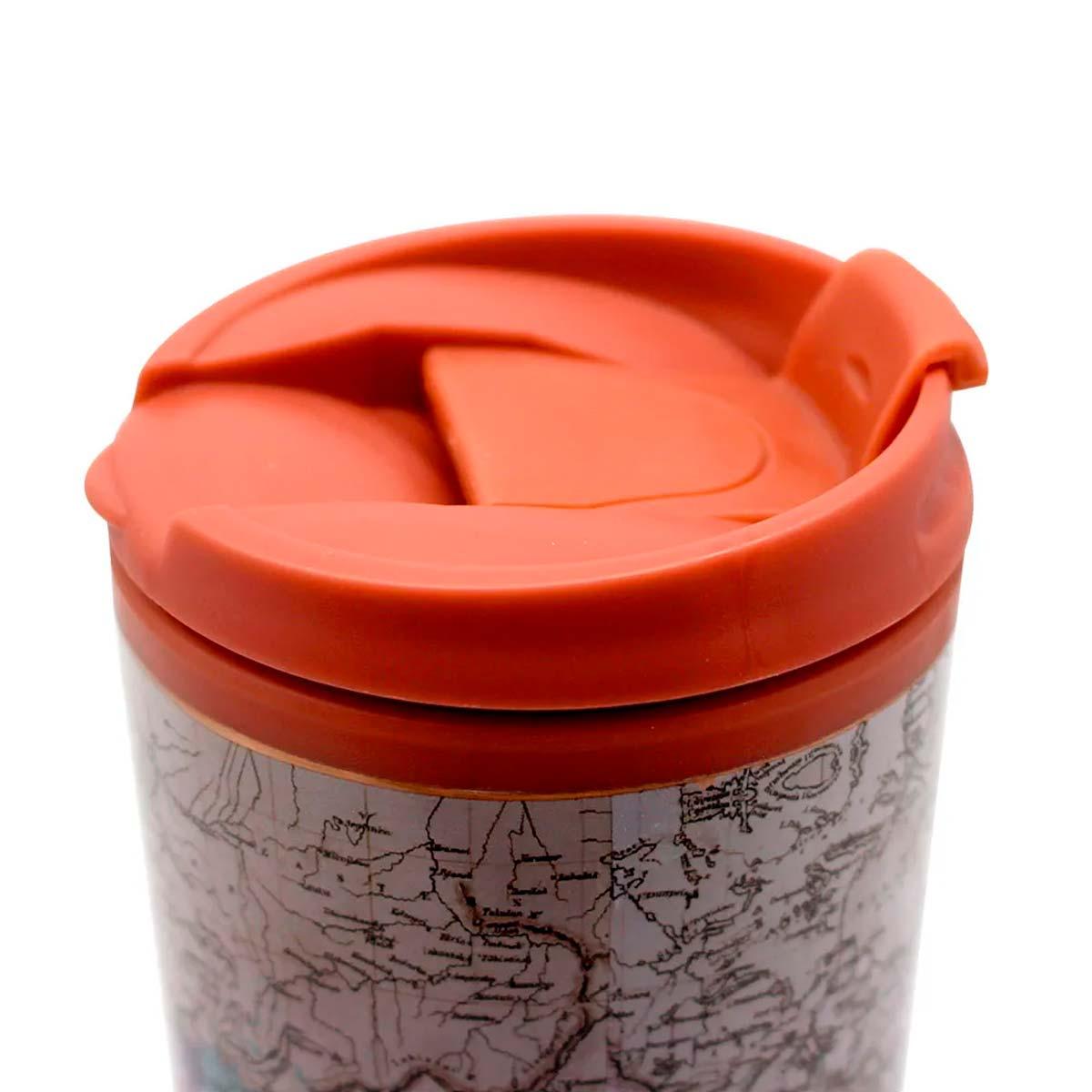 Copo Viagem Mapa Vintage - Viajar é um vício que faz bem