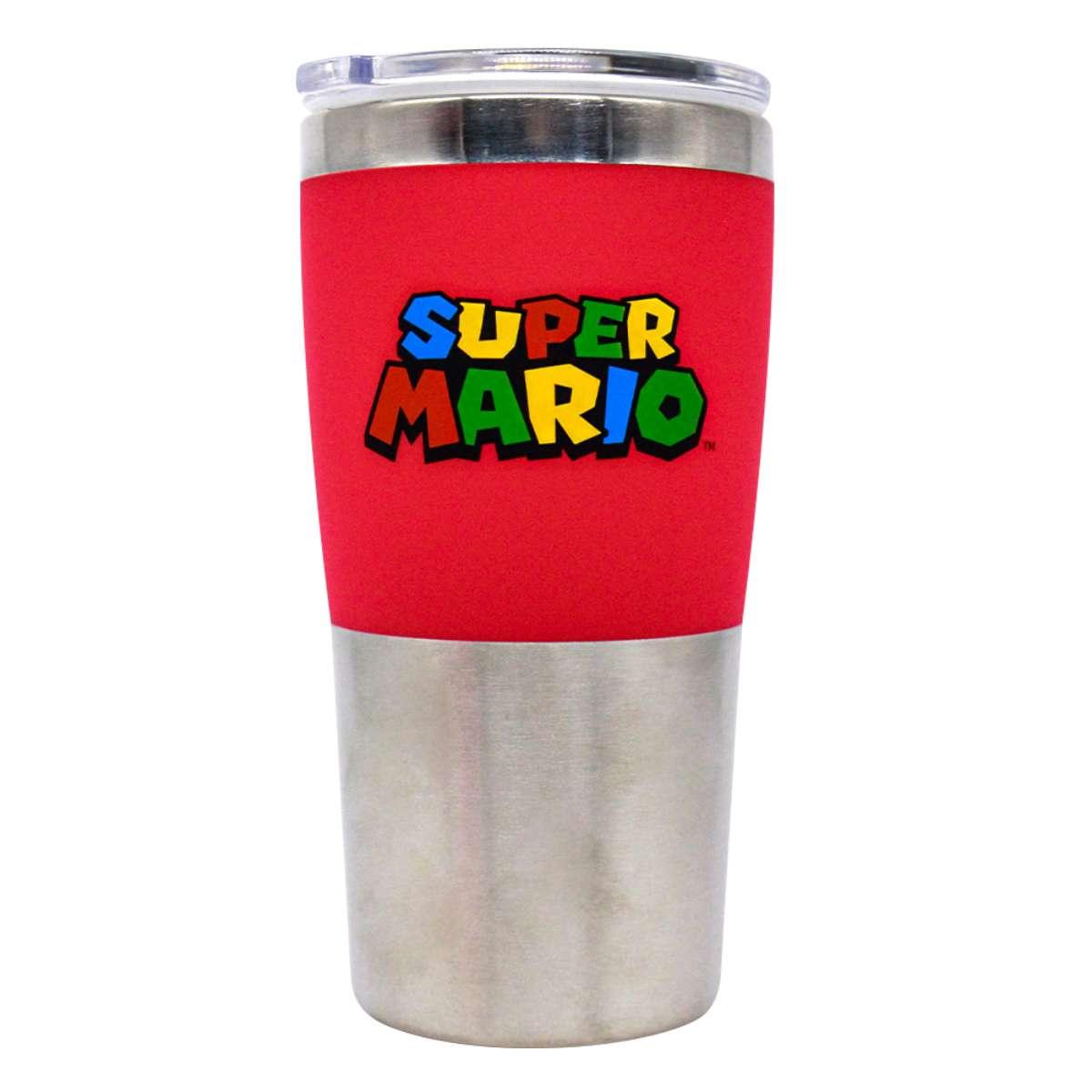 Copo Viagem Super Mario Bros Logo Nintendo