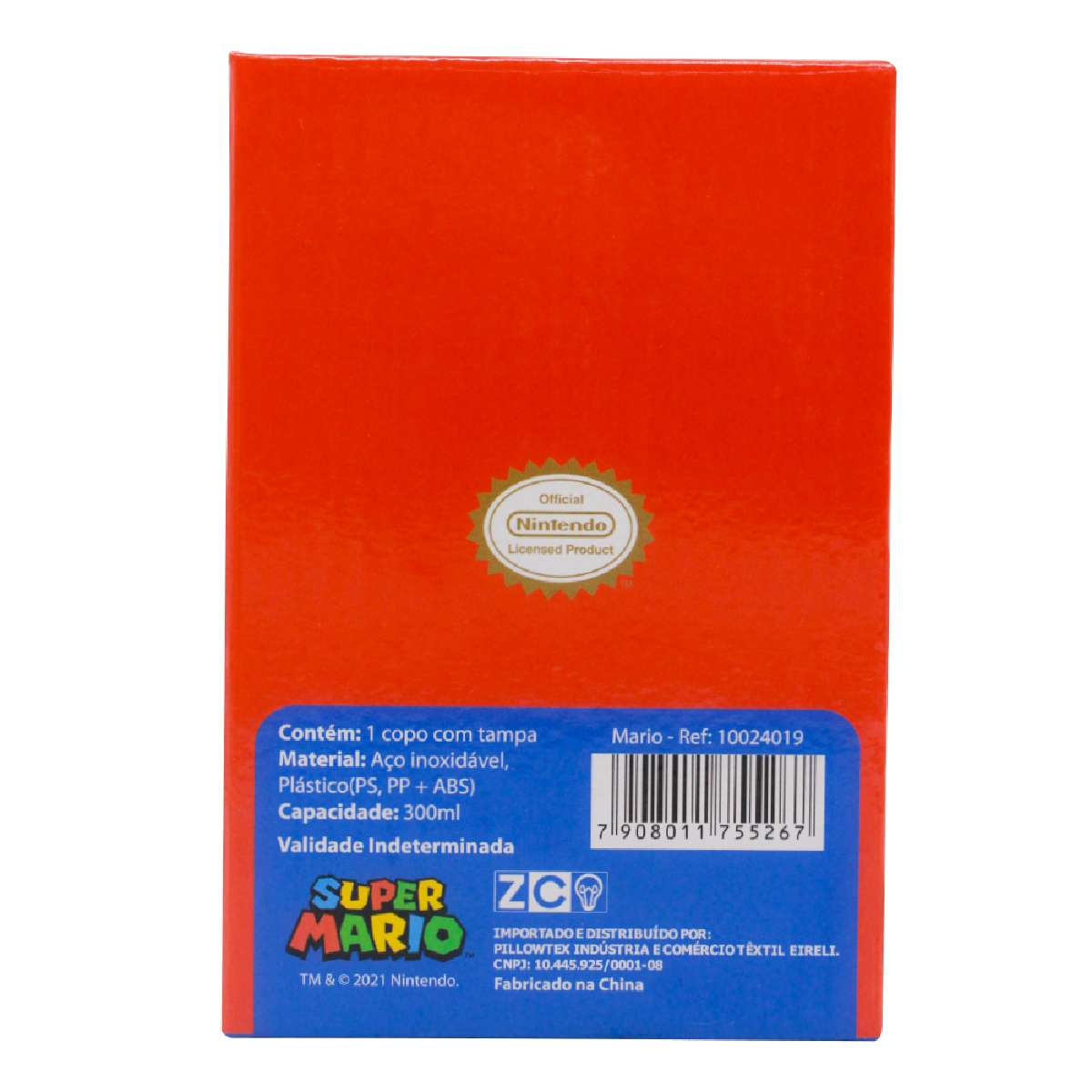 Copo Viagem Super Mario Bros Retrô Nintendo