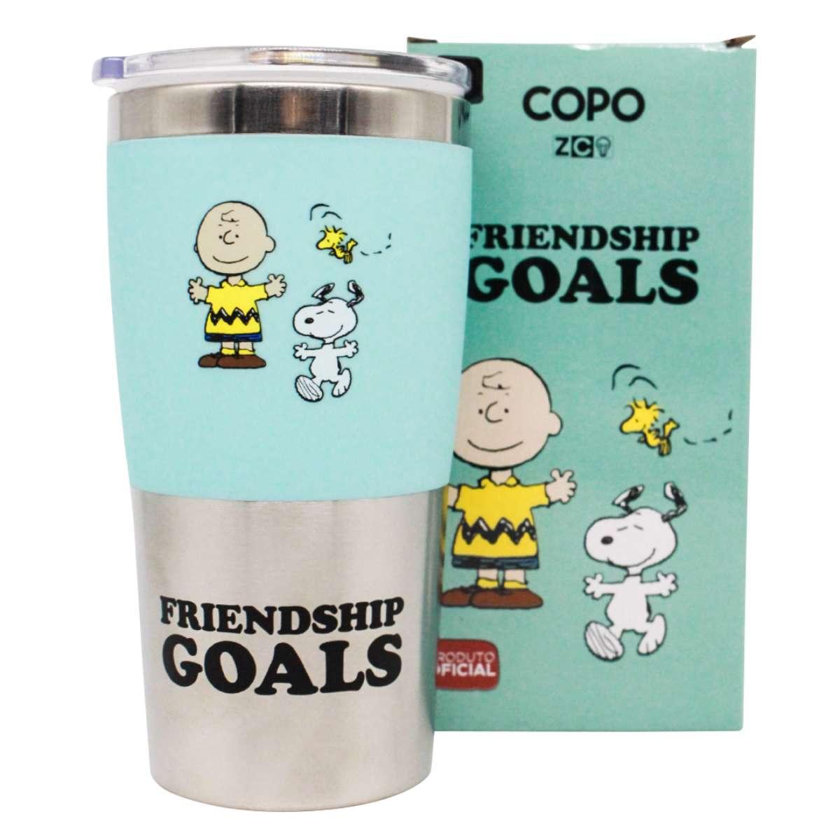 Copo Viagem Snoopy Friendship Goals Charlie Brown Amizade