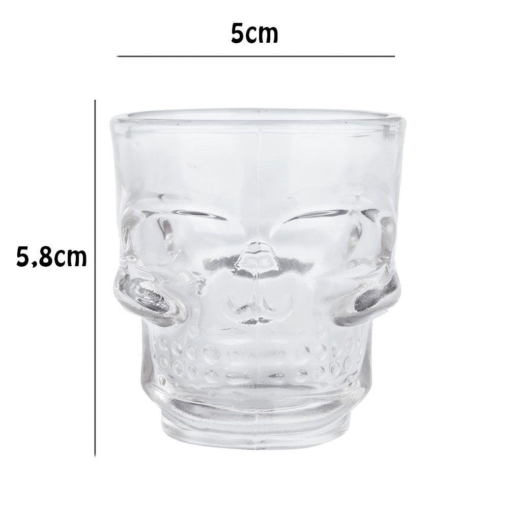 Copos De Shot Caveira Crystal Head - Kit Com 4 Copos