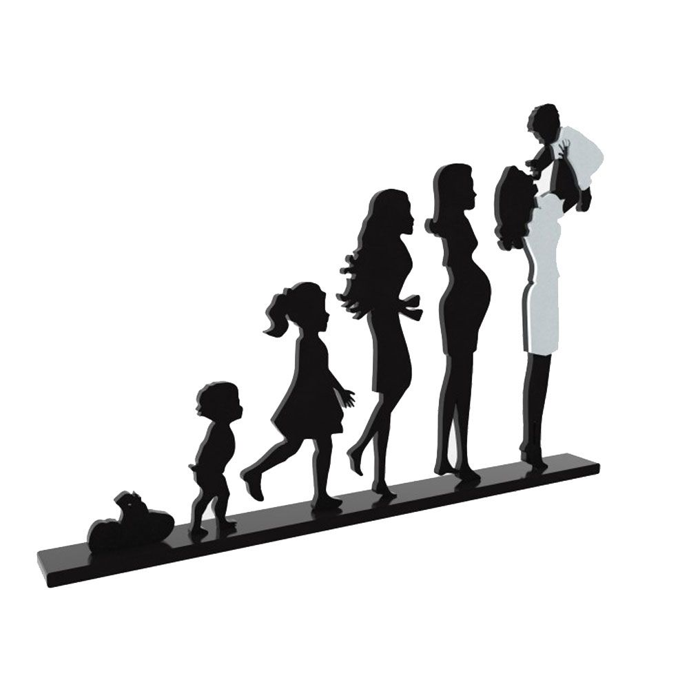 Escultura Decorativa de Mesa Evolução Mãe