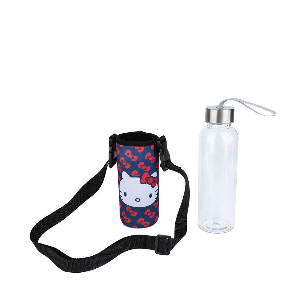 Garrafa Acrílica com Porta Garrafa Neoprene Hello Kitty