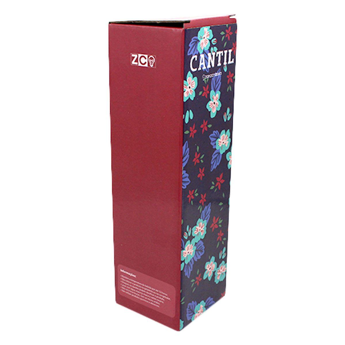 Garrafa Cantil Térmica Flores Azul