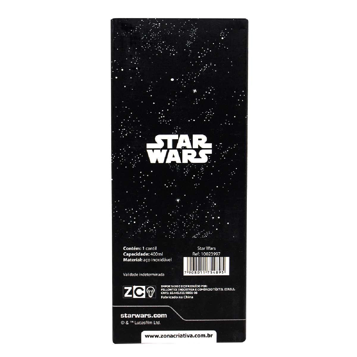 Garrafa Cantil Térmica Emborrachado Star Wars Galaxia Logo