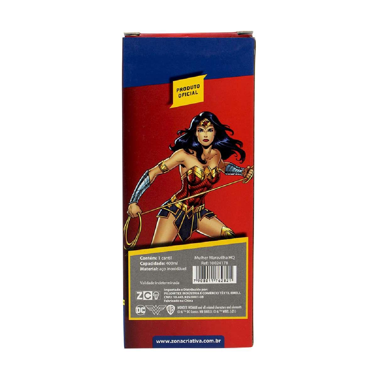 Garrafa Cantil Térmica Mulher Maravilha HQ DC Comics