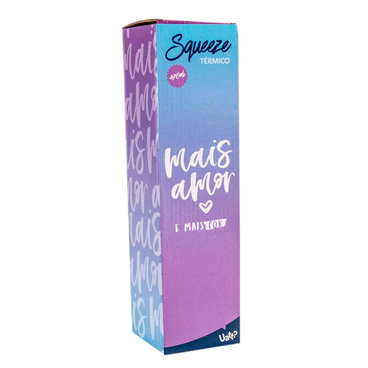 Garrafa Cantil Térmico Retrô 475 ml Mais Amor