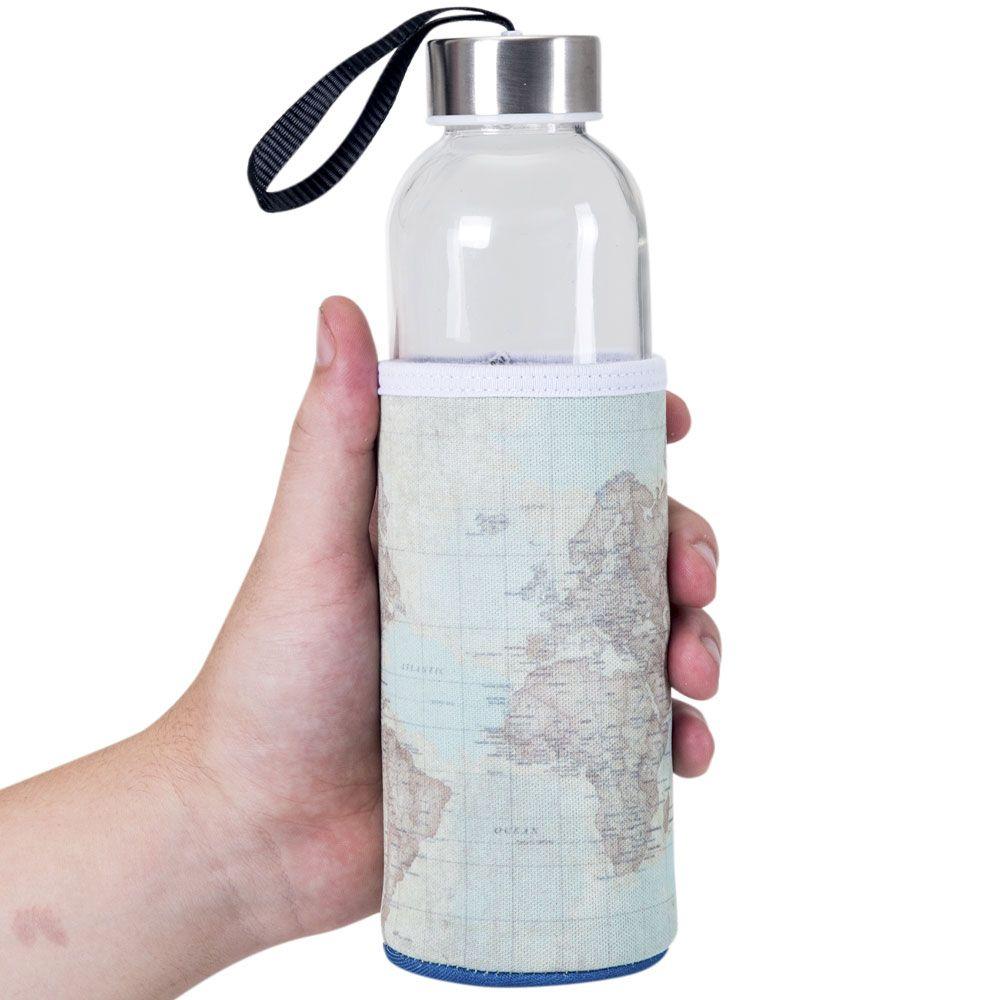 Garrafa de Vidro 500 ml - Viagem