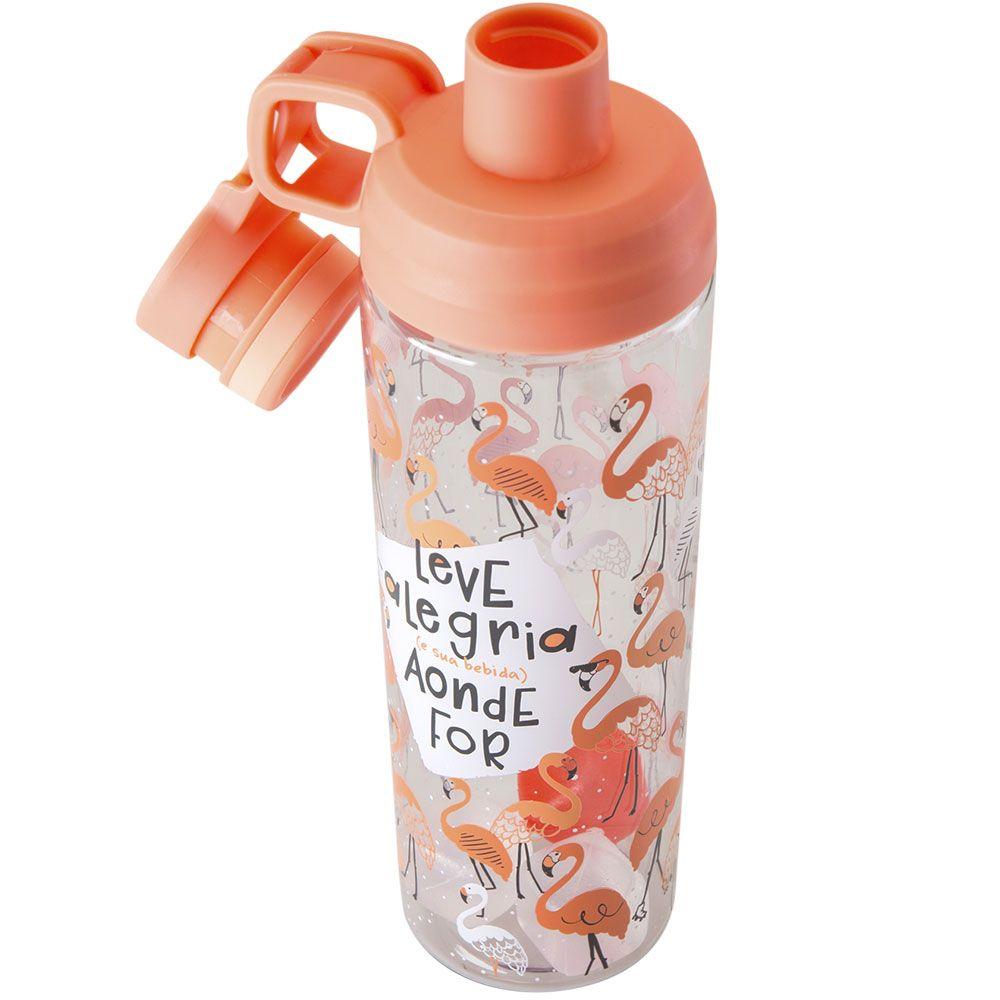 Garrafa Squeeze com Gelo 900ml - Flamingo