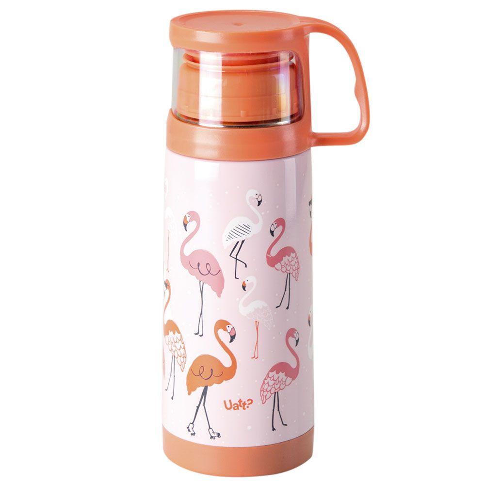 Garrafa Térmica 350 ml com Caneca - Flamingo