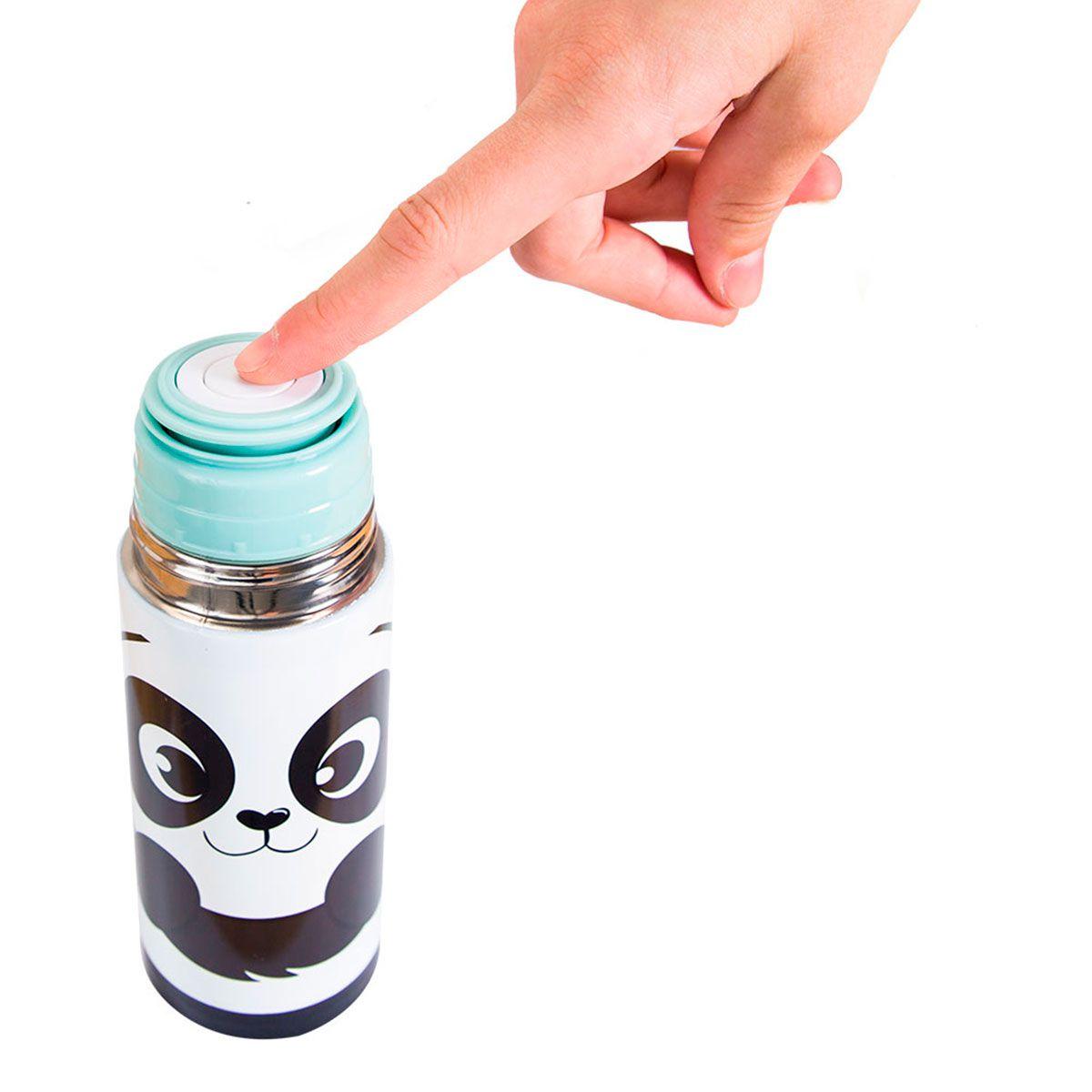 Garrafa Térmica 350 ml com Caneca - Panda