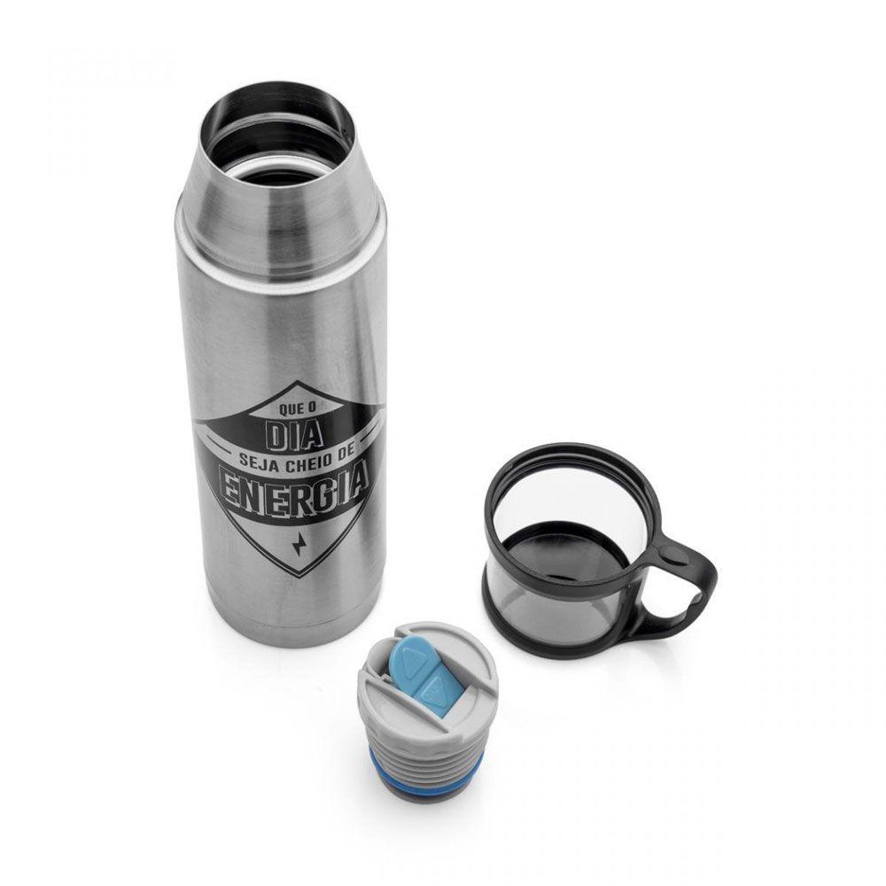 Garrafa Térmica 500 ml com Caneca - Energia