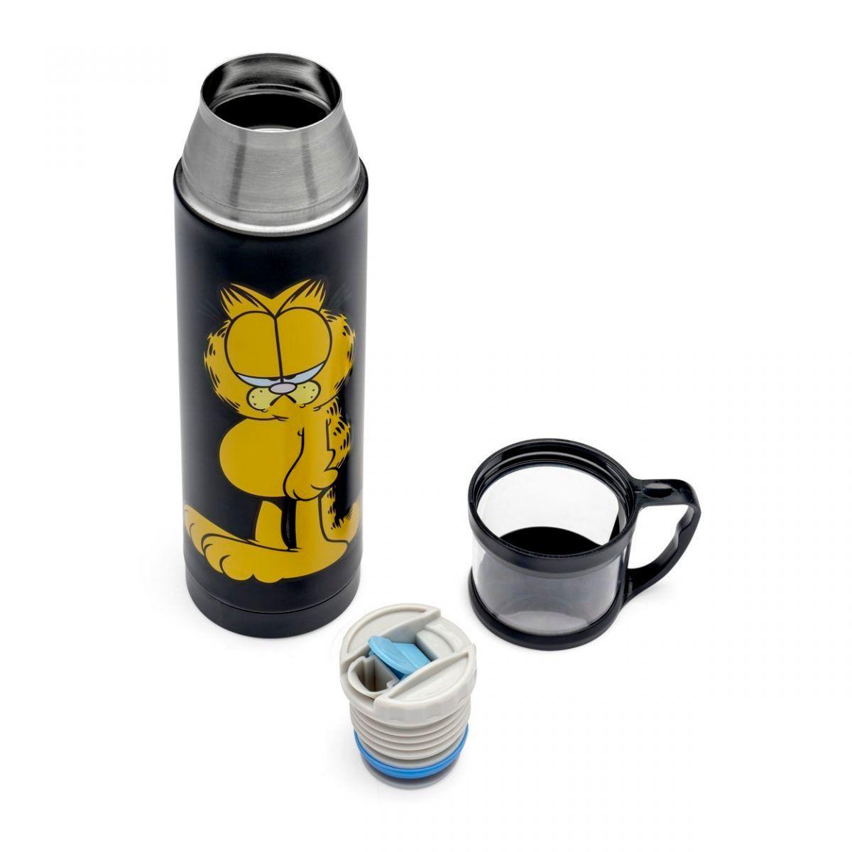Garrafa Térmica 500 ml com Caneca - Garfield