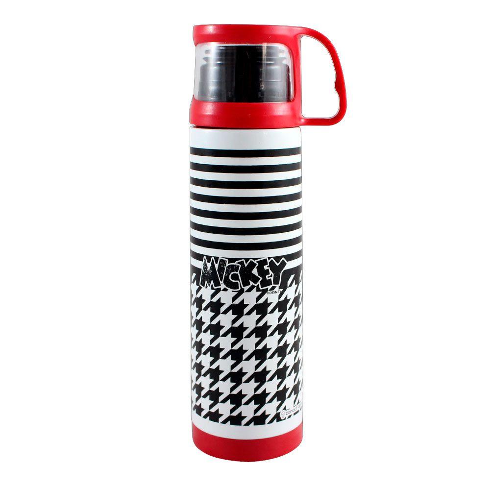 Garrafa Térmica 500 ml com Caneca - Mickey Geométrico