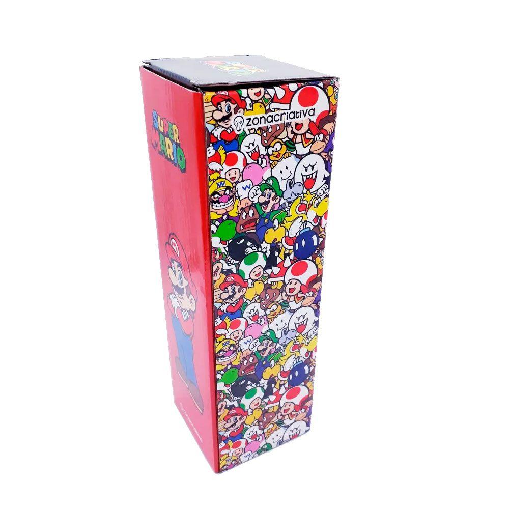 Garrafa Térmica 500 ml com Caneca - Super Mario Bros - Personagens