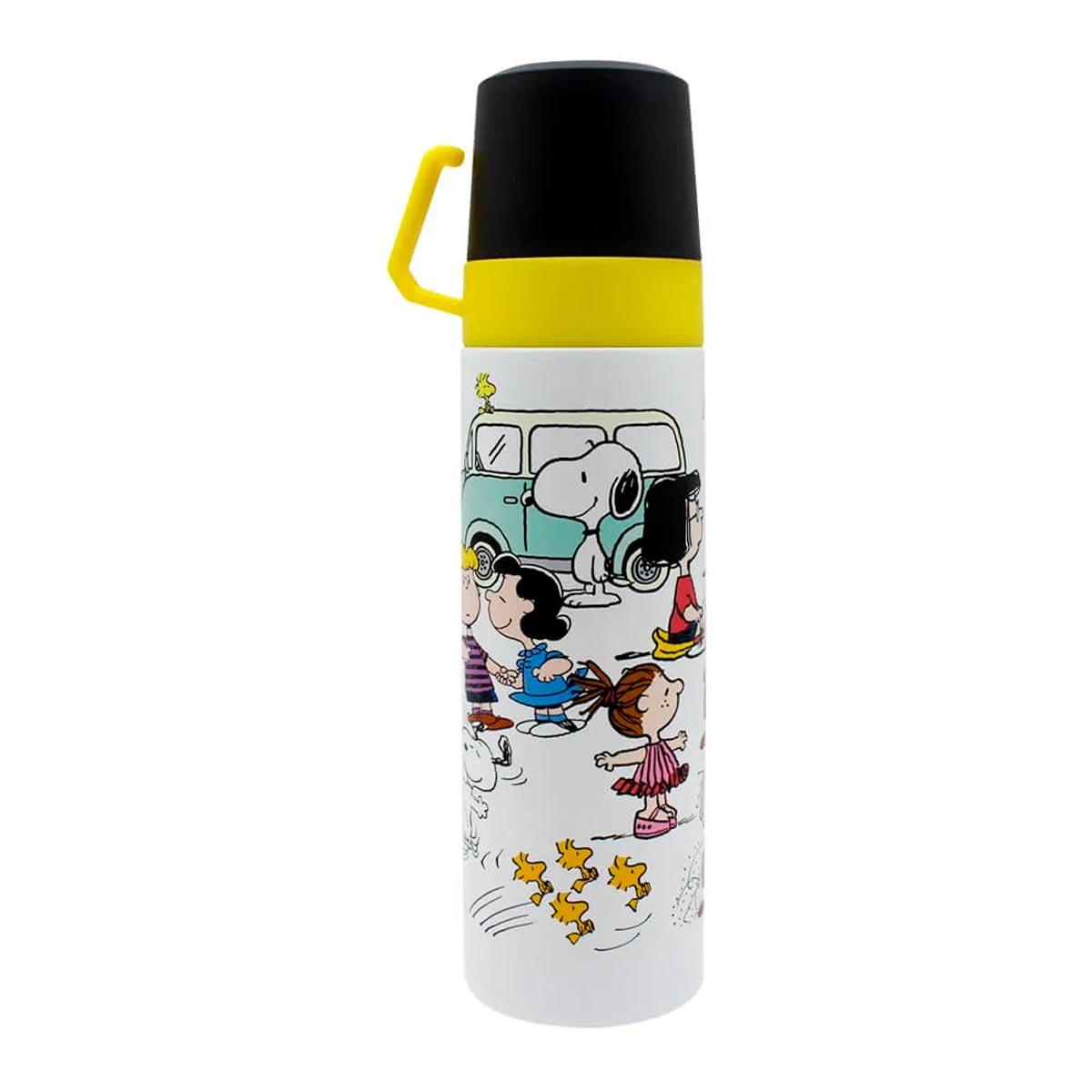 Garrafa Térmica 500 ml com Caneca Turma Snoopy FBA