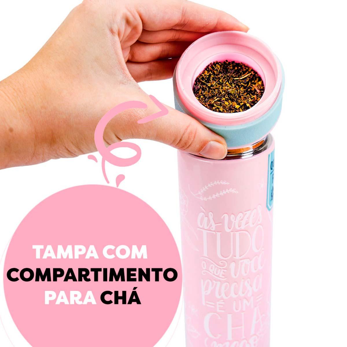 Garrafa Térmica 500 ml com Filtro - Jardim