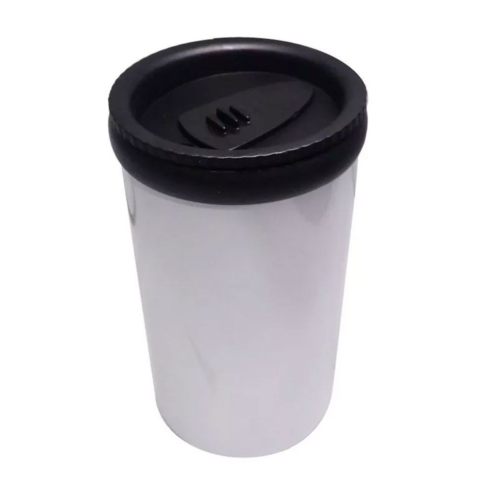 Garrafa Térmica 500ml Inox Com Copo Branco