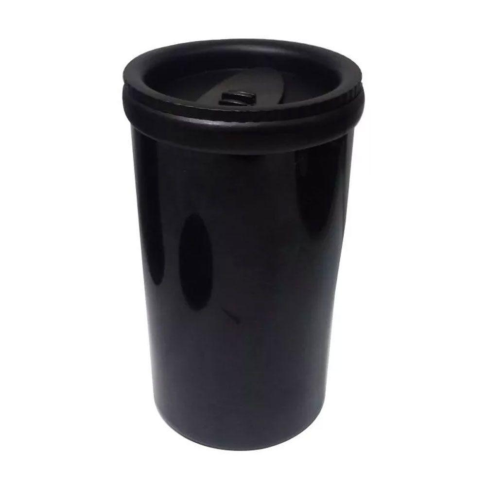 Garrafa Térmica 500ml Inox Com Copo Preto