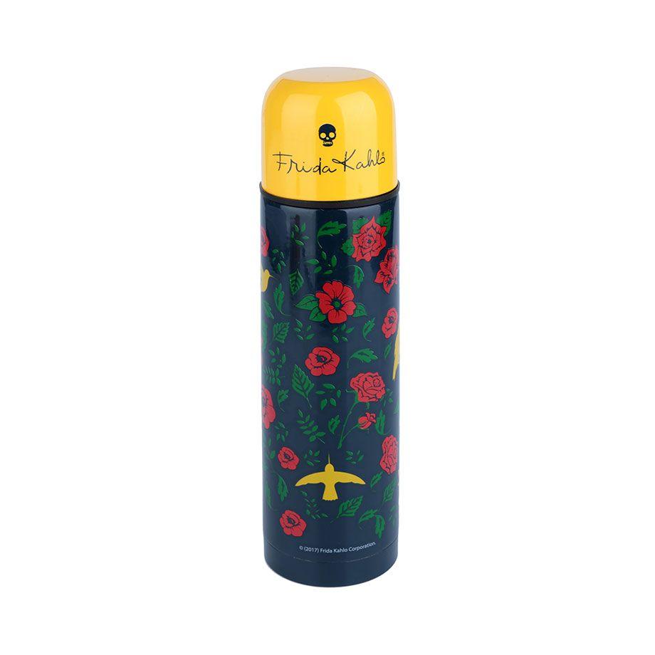 Garrafa Térmica Frida Kahlo 500 ml - Birds and Flowers