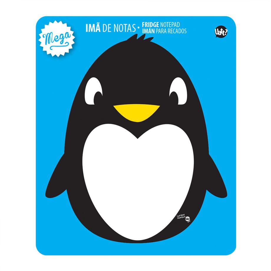 Imã Magnético Para Anotações Mega Pinguim