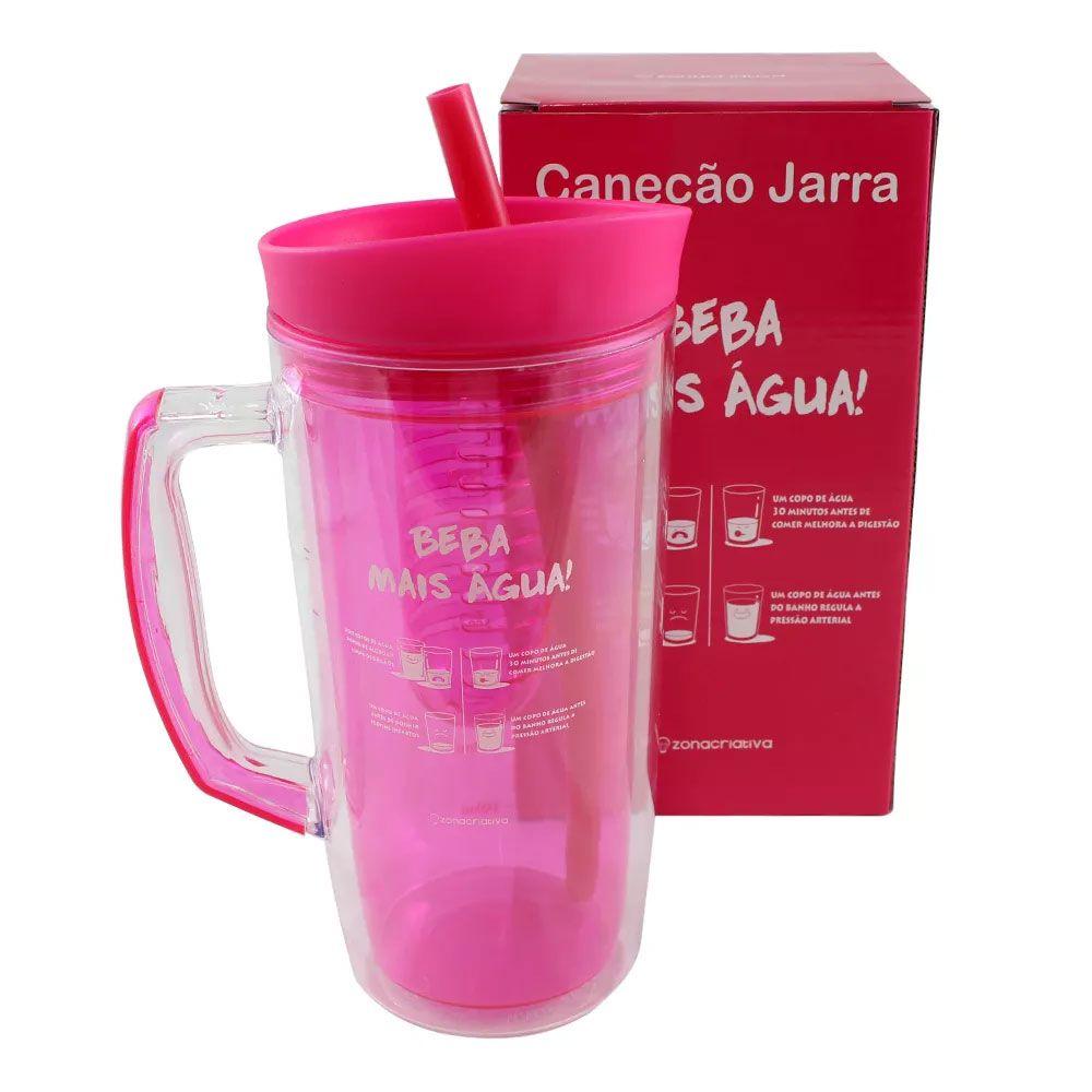Jarra Canudo 1 litro com Infusor - Beba Mais Água