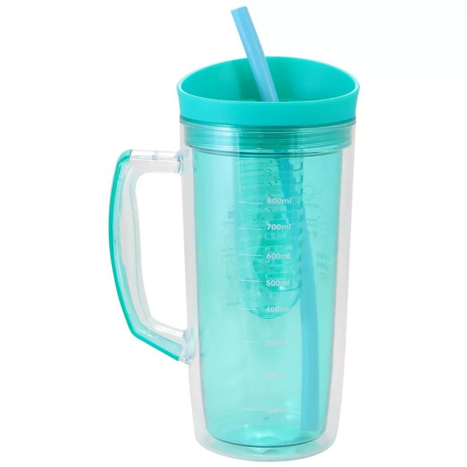 Jarra Canudo 1 litro com Infusor - Hidrate-se