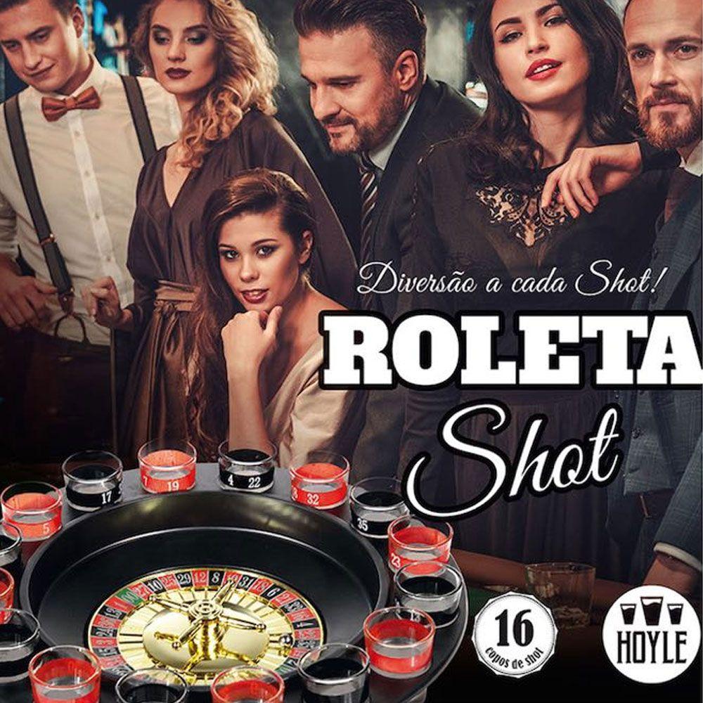 Jogo Cassino Roleta Shot - 16 Copos Bebida Drink Destilado