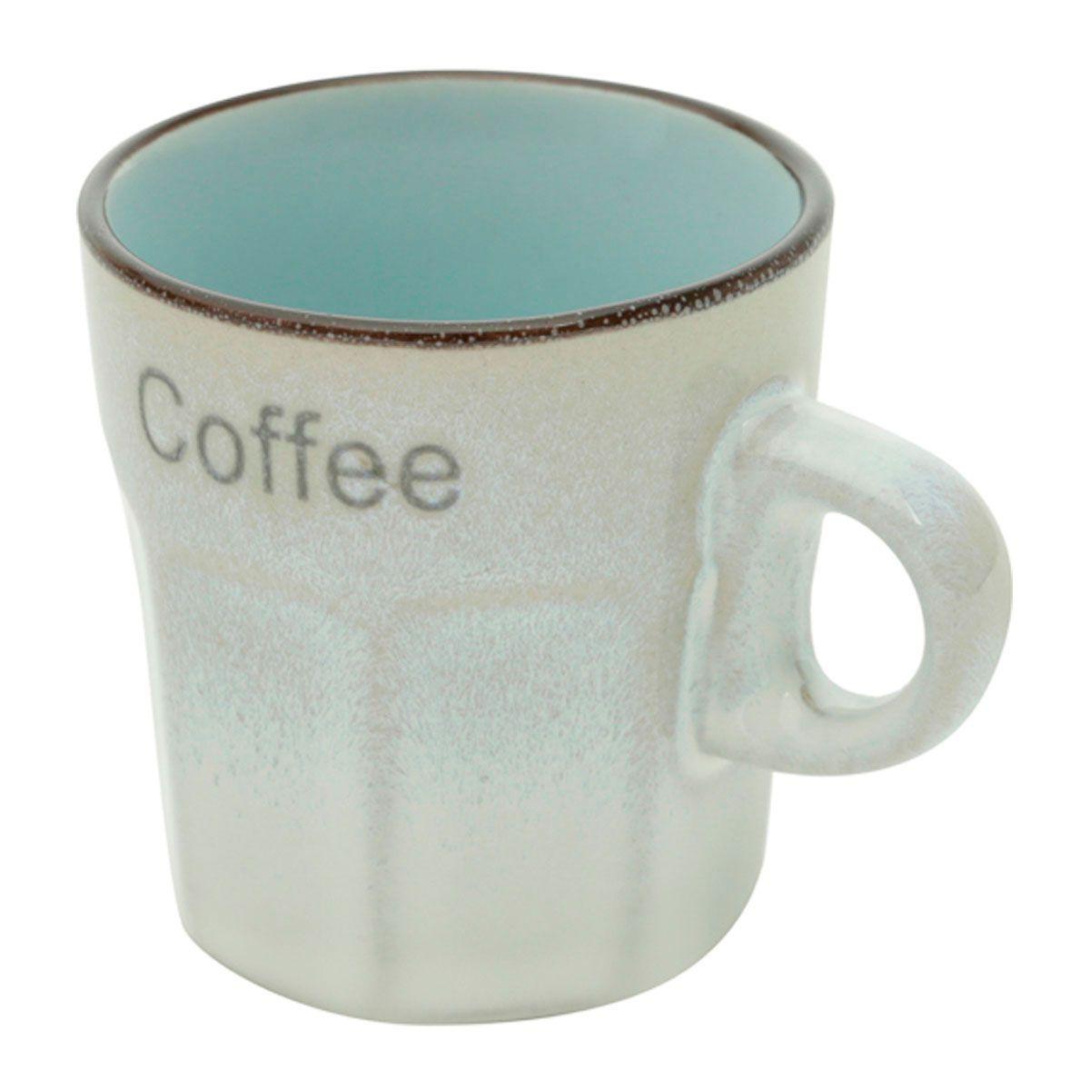Jogo de Xícaras Café 6 Peças Porcelana Allure Cores Sortidas