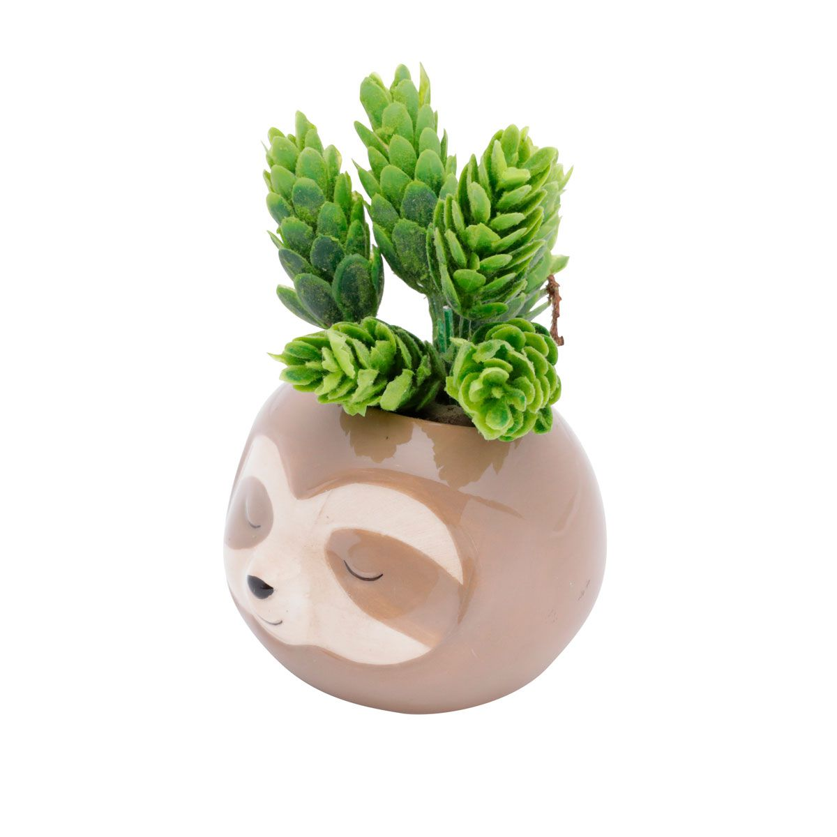 Kit 2 Cachepot Vaso Decorativo Bicho Preguiça E preguicinha Fofa