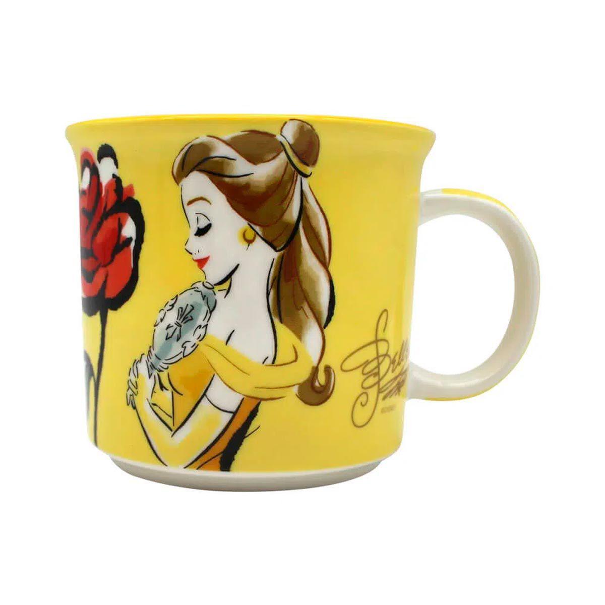 Kit 4 Canecas Princesas Disney - Ariel, Branca de Neve, Bela e Cinderela
