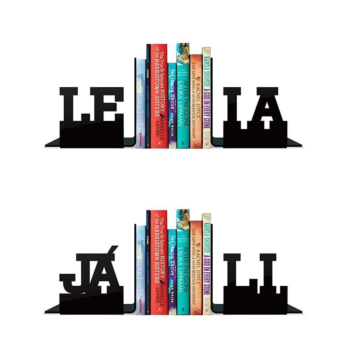 Kit Aparadores de Livros Leia e Já Li 4 peças