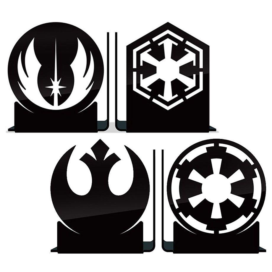 Kit Aparadores de Livros Star Wars - Jedis vs Sith e Rebels vc Império