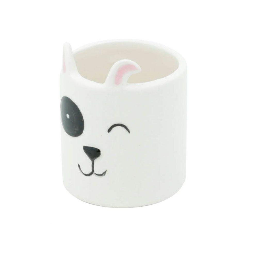 Kit Cachepot Vasos Decor de Cerâmica Animais Raposas Gato Cachorro