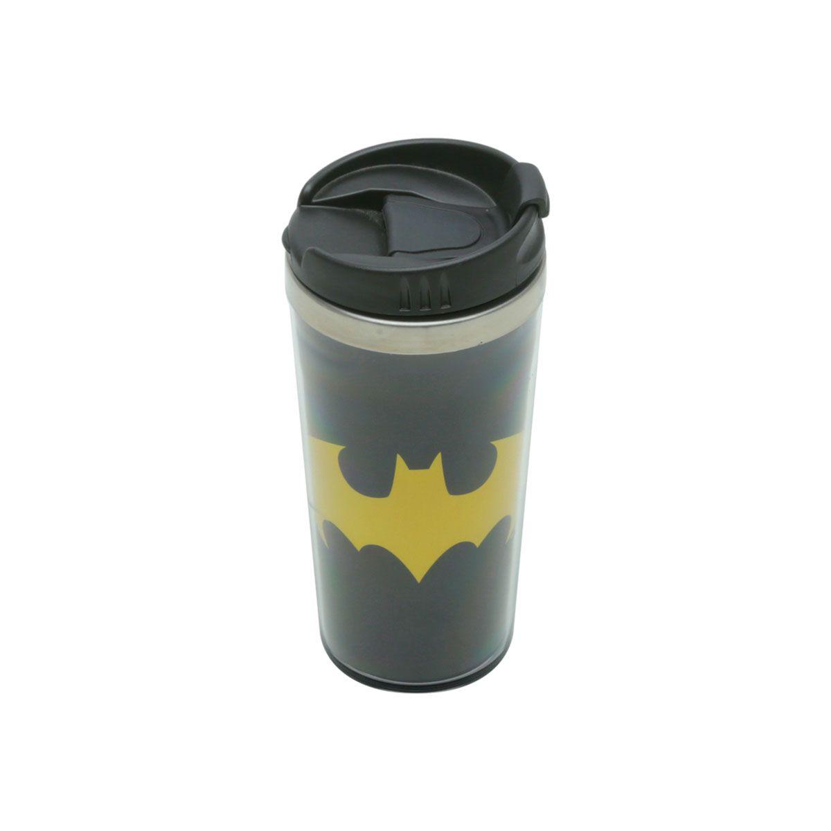 Kit Caneca 3D Copo Térmico e Chaveiro Batman Dc Comics