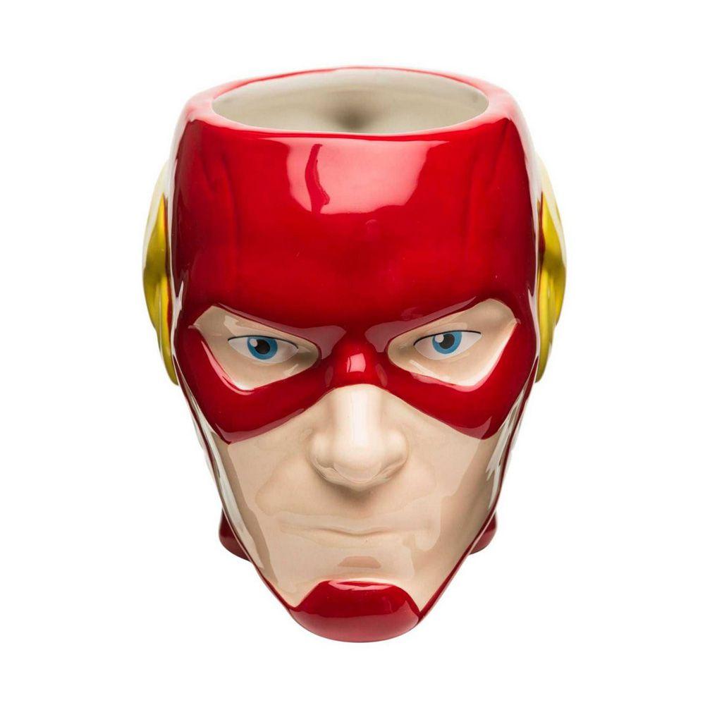 Kit Caneca 3D Copo Térmico e Chaveiro Flash Dc Comics