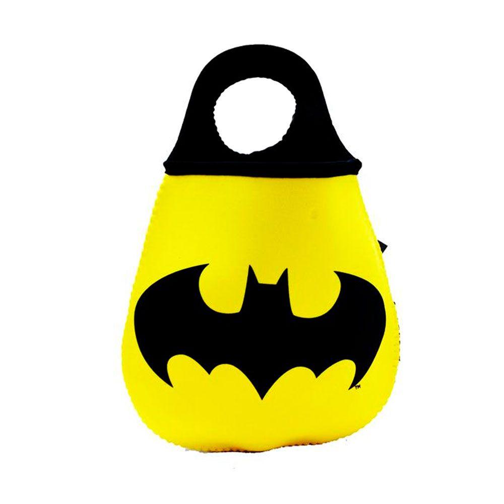 Kit Caneca e Lixeira Batman Logo Amarelo