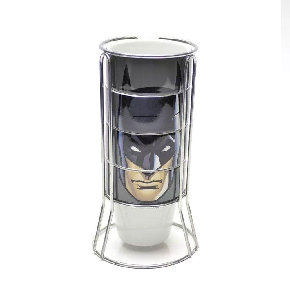 Kit Caneca e Torre de Canecas Batman Face