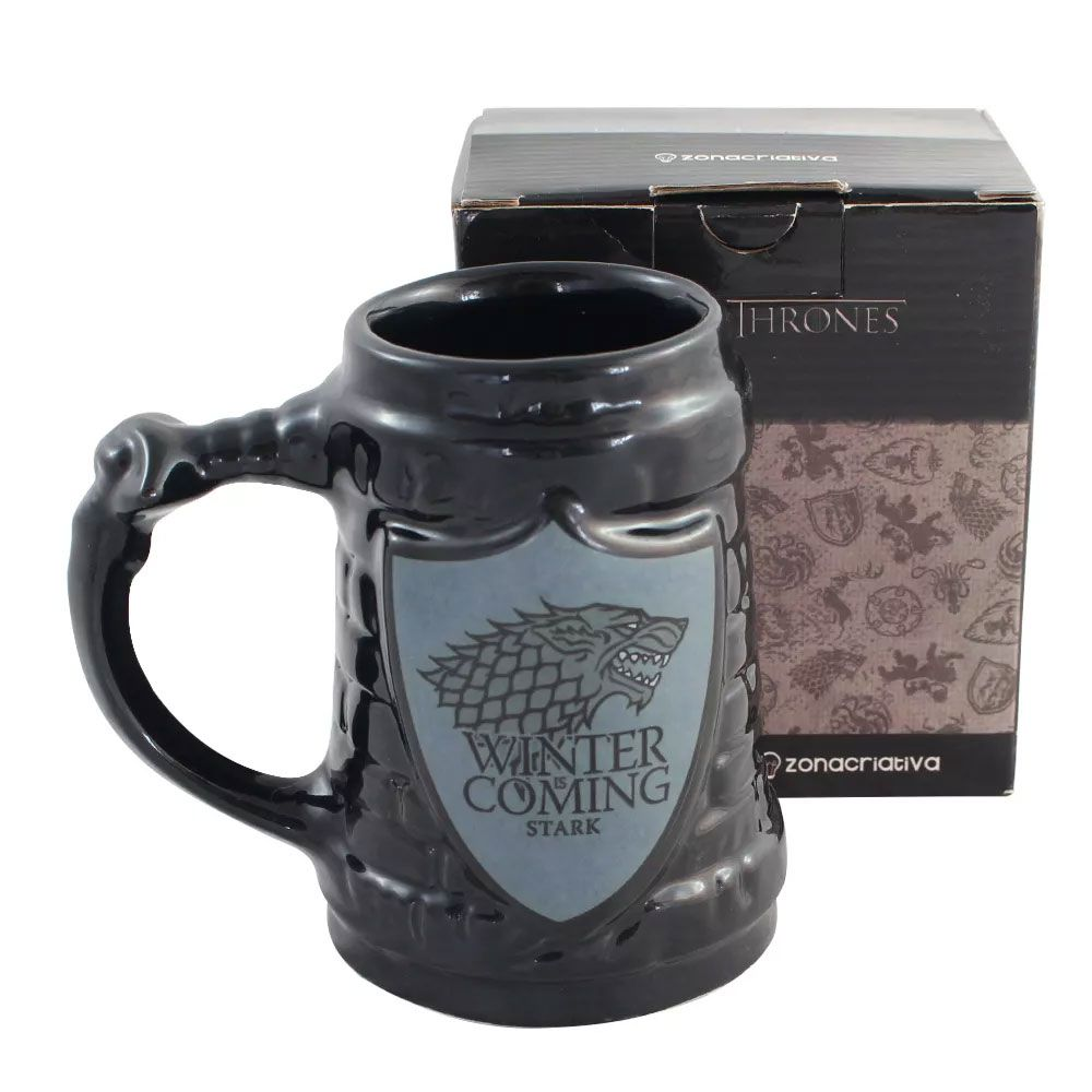 Kit Canecas Stark Game of Thrones Winter is Coming