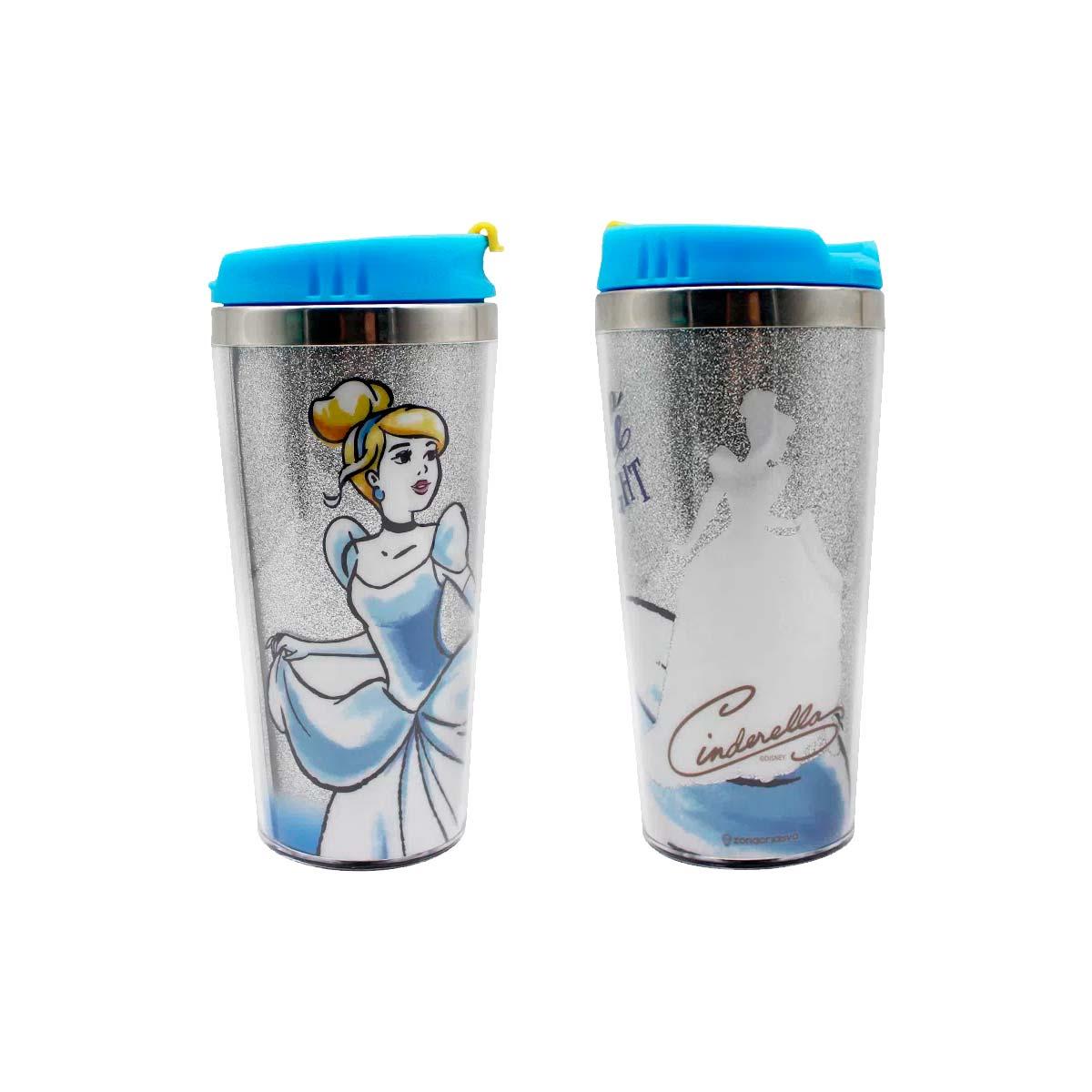 Kit Copo Térmico e Caneca Princesa Cinderela Disney