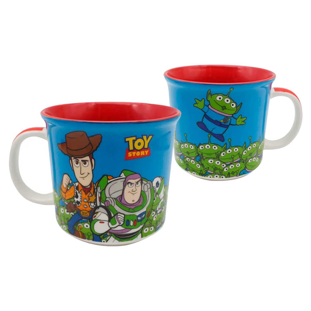 Kit Copo Térmico e Caneca Toy Story Wood e Buzz Lightyear
