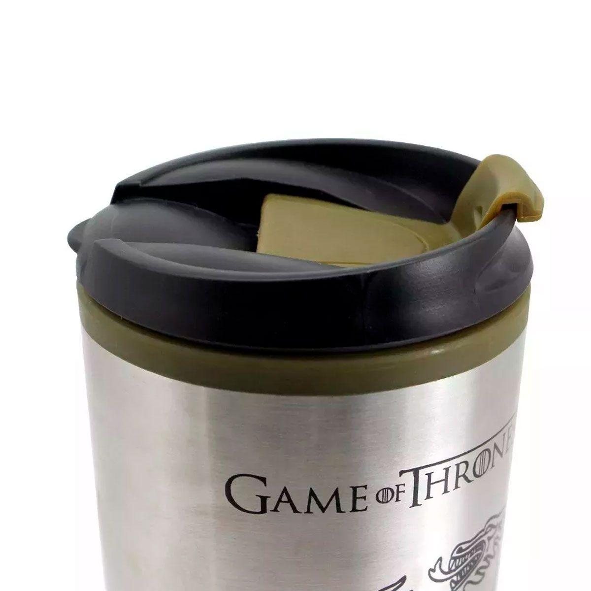 Kit Copo Viagem e Chaveiro Game Of Thrones