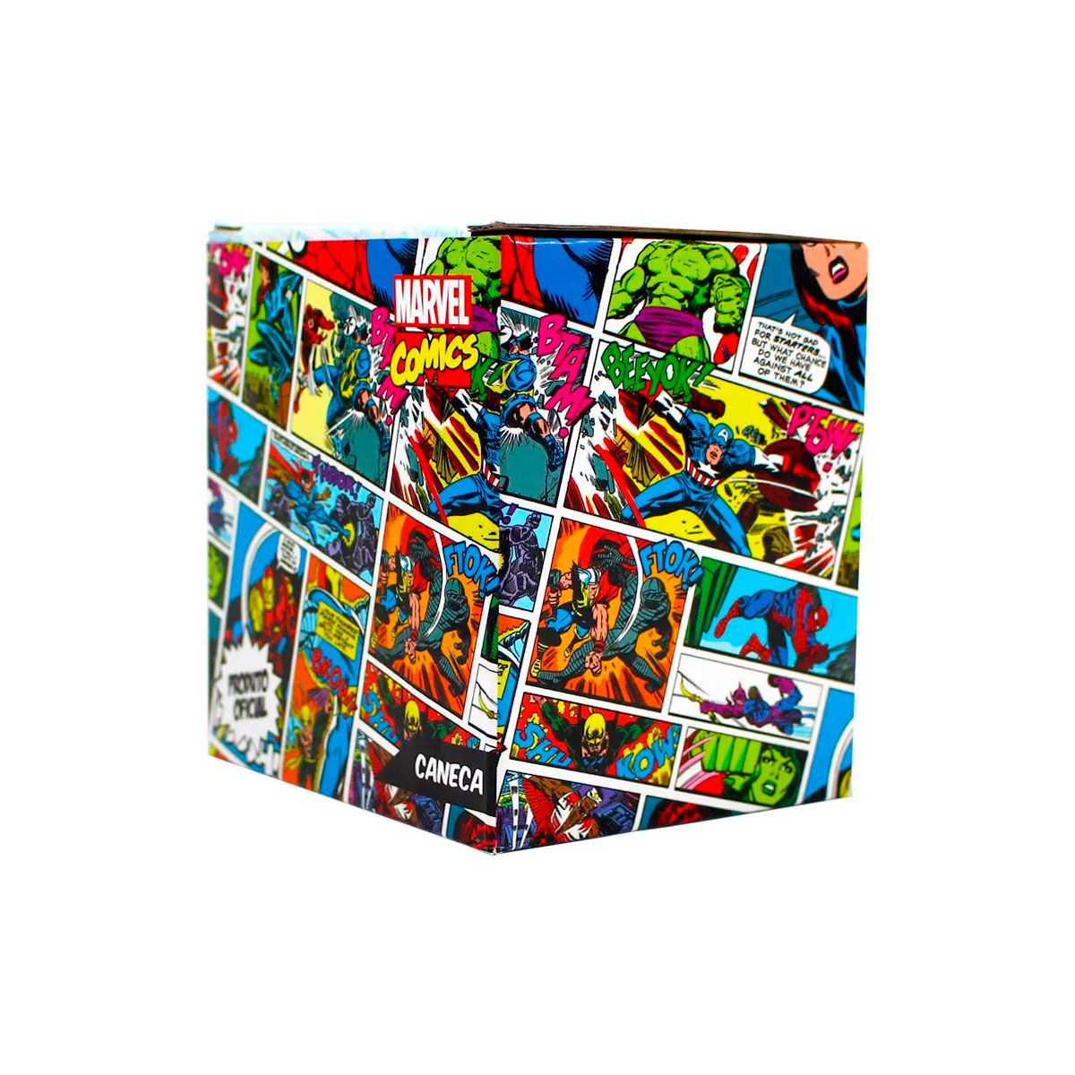 Kit Garrafa Cantil e Caneca Alça Quadrada 500 ml Hulk Marvel
