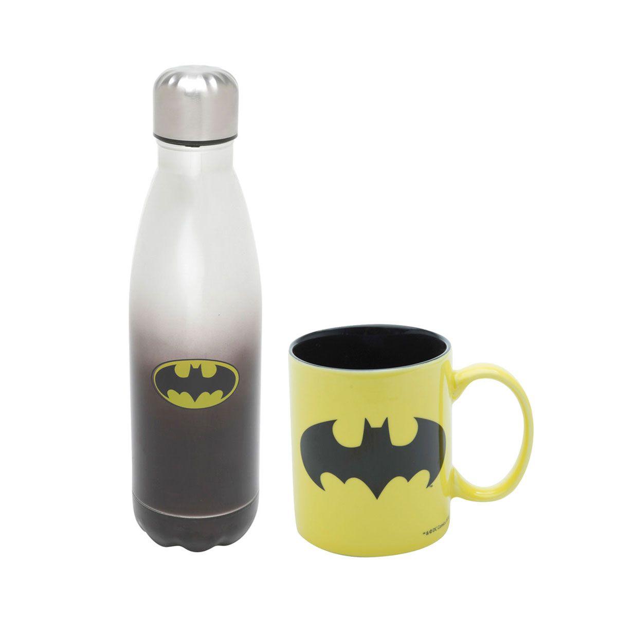 Kit Garrafa Térmica e Caneca Batman Dc Comics