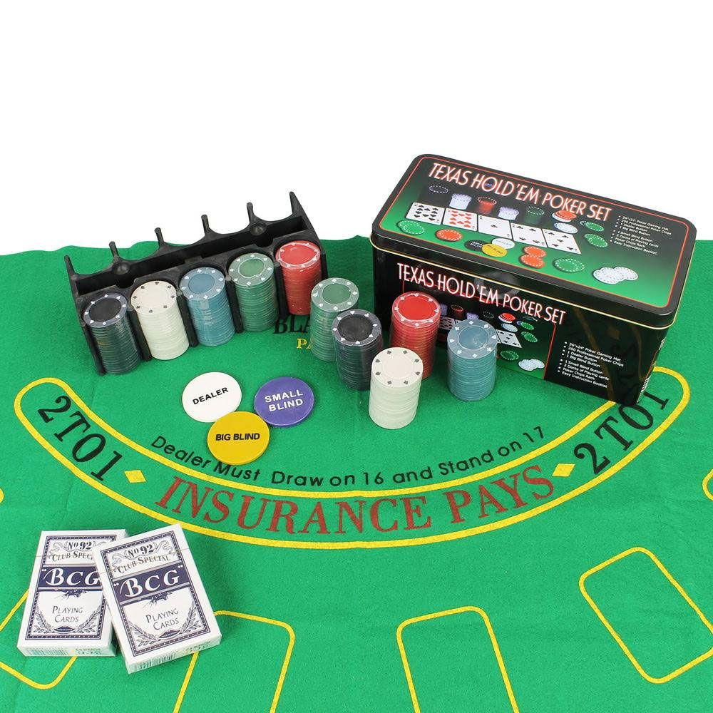 Kit Jogo Lata De Poker 200 Fichas